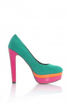Pantofi Colour Love Green