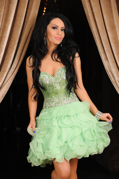 Rochie Sherri Hill Fabulous Celebration Green