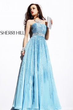Rochie Sherri Hill 8437 LightBlue