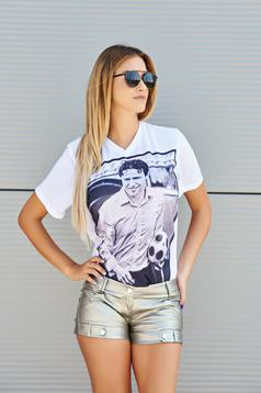 Tricou Ana Radu Famous Faces White