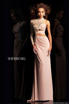Rochie Sherri Hill 21002 Nude