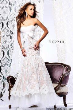 Rochie Sherri Hill 21010 White
