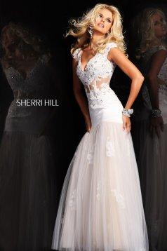 Rochie Sherri Hill 21012 White