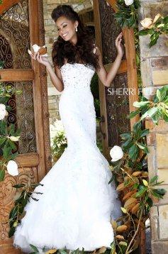 Rochie Sherri Hill 21014 White