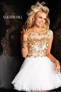 Rochie Sherri Hill 21032 White