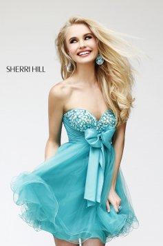 Rochie Sherri Hill 21190 Turquoise