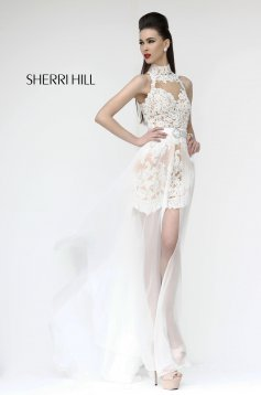 Rochie Sherri Hill 21213 White