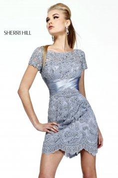Rochie Sherri Hill 21204 Silver
