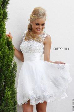 Rochie Sherri Hill 4302 White