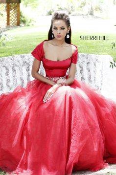 Rochie Sherri Hill 21249 Red