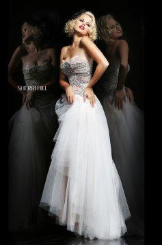 Rochie Sherri Hill 11082 White
