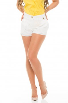 Pantaloni Scurti PrettyGirl Holey White