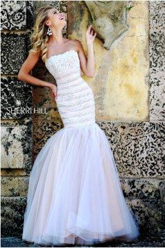 Rochie Sherri Hill 11154 White