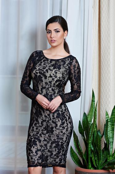 Rochie MissQ Fancy Lace Black