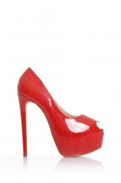 Pantofi Mineli Boutique Din Piele Naturala Beloved Red