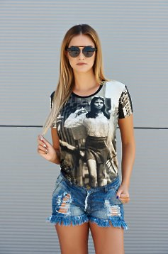 Tricou PrettyGirl City Lady Black