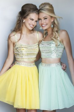 Set Sherri Hill 11060 Yellow