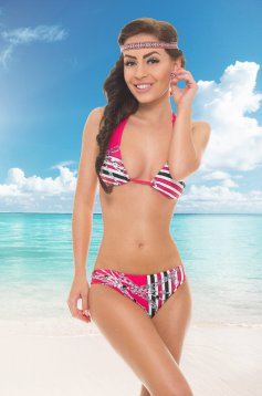 Costum De Baie Hot Chains Pink
