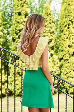 Top PrettyGirl Frilled Green