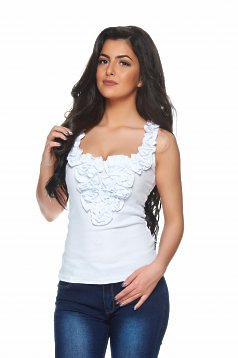 Top Fofy Lovely Comfort White