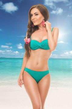 Costum De Baie Warm Look Green