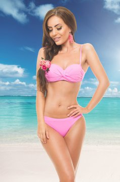 Costum De Baie Warm Look Pink