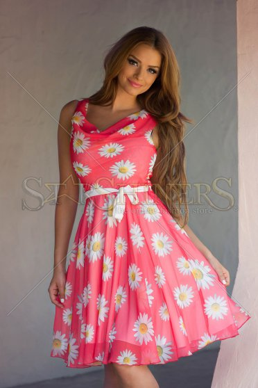 Rochie LaDonna Flowers Miracle Coral