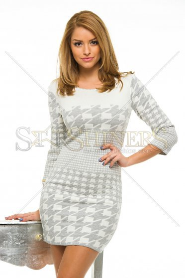 Rochie MissQ Graphic Suavity Grey