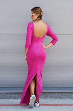 Rochie MissQ roz casual lunga cu spatele gol