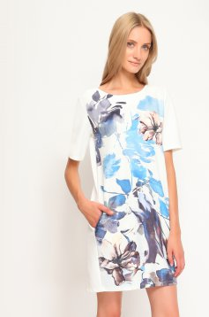 Rochie Top Secret Urban Blooms White