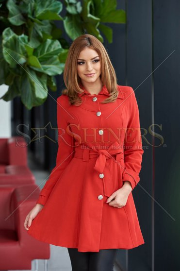 Trench Artista Early Riser Red