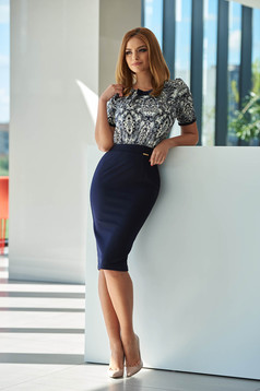 Rochie Fofy Office Lady DarkBlue