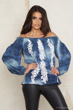 Bluza Mexton Beautiful Embroidery Blue