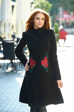 Palton StarShinerS Brodat Rose Mystery Black