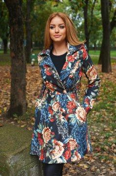 Palton Daniella Cristea Blossomed Black