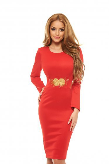 Rochie Starshiners Brodata Rose Obsession Red