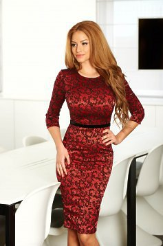 Rochie StarShinerS Embraced Red