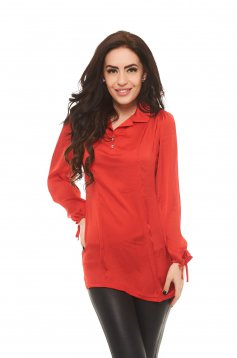 Camasa MissQ Front Shape Red