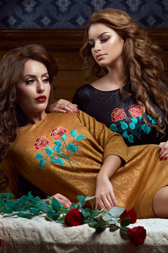 Rochie StarShinerS Brodata Rose Fashion Gold