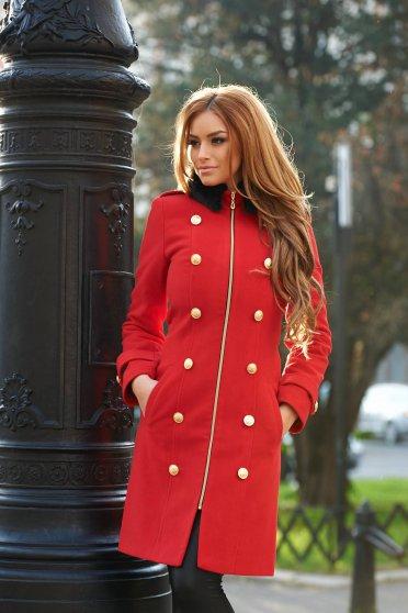 Palton Ladonna Modern Style Red