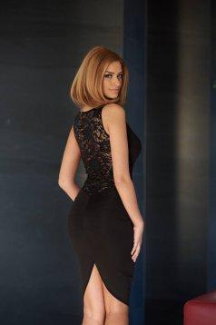 Rochie Fofy Elegant Back Black