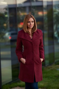 Palton LaDonna Elegant Look Burgundy