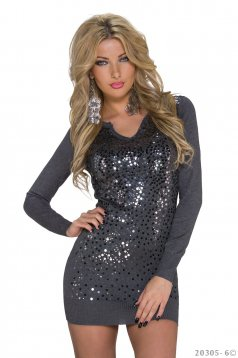 Pulover Shiny Whisper DarkGrey
