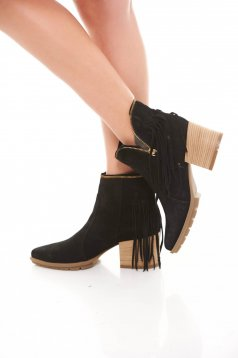 Botine Mineli Boutique Din Piele Naturala Unique Black