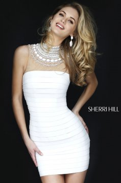 Rochie Sherri Hill 32283 White