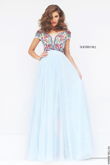 Rochie Sherri Hill 50151 LightBlue/Multi