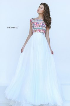 Rochie Sherri Hill 50457 White