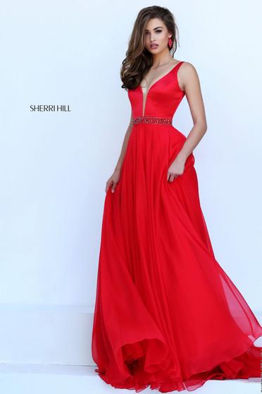 Rochie Sherri Hill 50264 Red