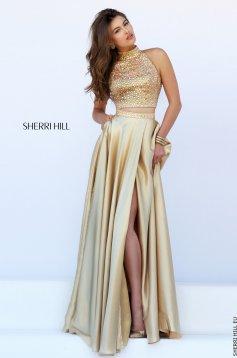 Rochie Sherri Hill 11330 Gold