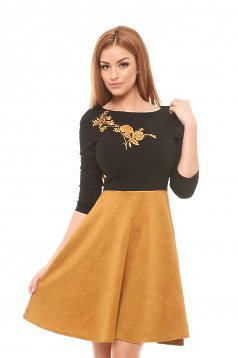 Rochie StarShinerS Modern Embroidery Gold
